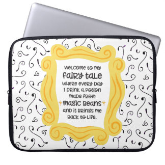 Funny coffee gift magic bean potion fairy tale laptop computer sleeves