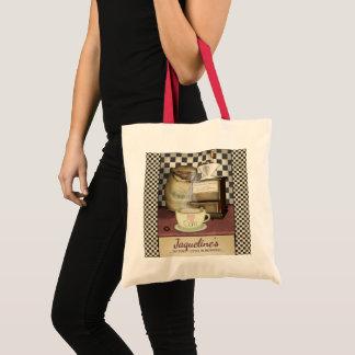 Funny Coffee Lover Vintage Café Diner Tote Bag