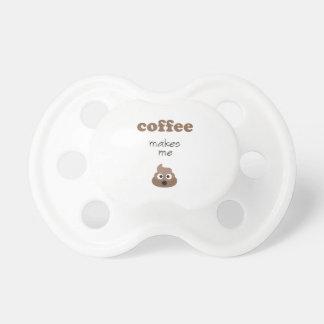 Funny coffee makes me poop emoji phrase pacifier
