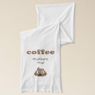 Funny coffee makes me poop emoji phrase scarf
