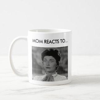 Funny Coffee Mug - Mom Reacts To