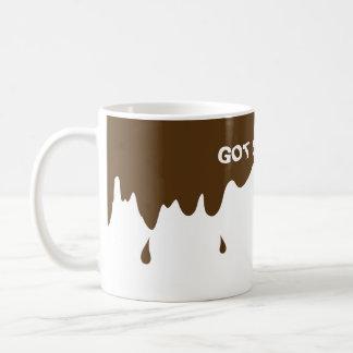 Funny Coffee Mug with Fake Coffee Drips