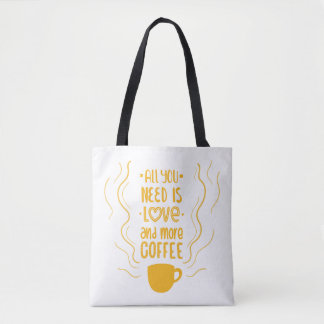 Funny Coffee Quote Caffeine Lover Addiction Quote Tote Bag