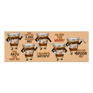 Funny Coffee Talk Poster