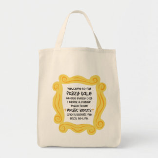 Funny coffee tote magic bean potion fairy tale