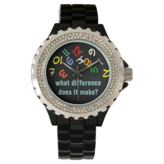 funny color numbers watch