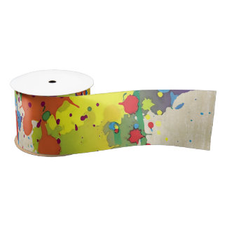 FUNNY COLOR SPLASH II + your backgr. & ideas Satin Ribbon