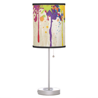 FUNNY COLOR SPLASH II + your backgr. & ideas Table Lamp