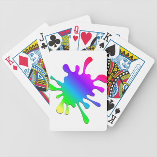 Funny Colorful Art Rainbow Paint Splatter Bicycle Playing Cards