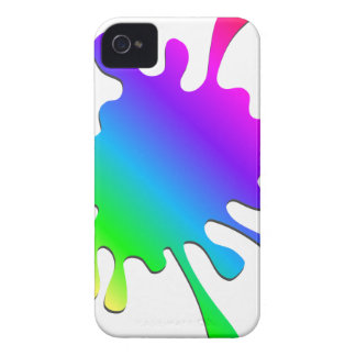 Funny Colorful Art Rainbow Paint Splatter iPhone 4 Cover