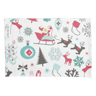 Funny Colorful Christmassy Pattern Pillowcase