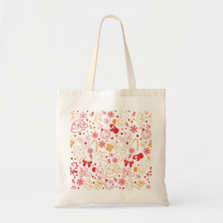 Funny Colorful Christmassy Pattern Tote Bag