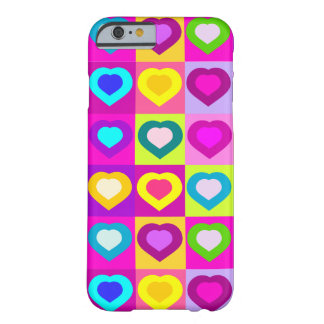 funny colorful hearts.LOVE Barely There iPhone 6 Case