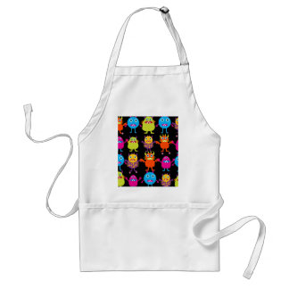 Funny Colorful Monster Party Creatures Characters Aprons