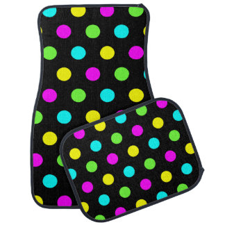 Funny Colorful Polka Dots Pattern - Car Mats