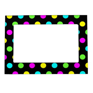 Funny Colorful Polka Dots - Picture Magnetic Frame