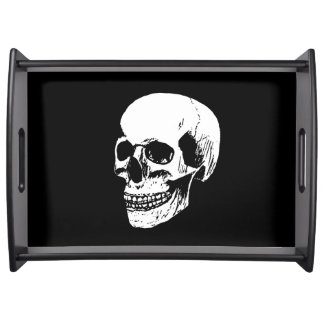 Funny colorful skull serving tray