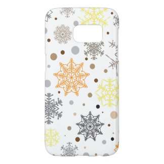 Funny Colorful Snowflakes Pattern Samsung Galaxy S7 Case