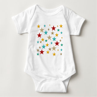 Funny, colorful stars baby bodysuit