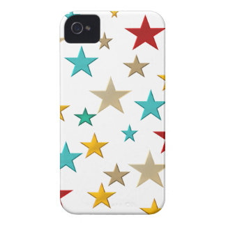 Funny, colorful stars iPhone 4 cases