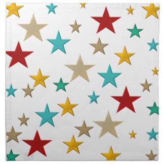 Funny, colorful stars napkin