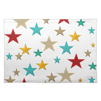 Funny, colorful stars placemat