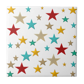 Funny, colorful stars tile