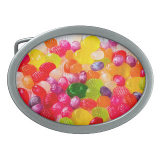 Funny Colorful Sweet Candies Food Lollipop Photo Belt Buckle