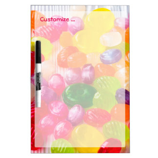 Funny Colorful Sweet Candies Food Lollipop Photo Dry Erase Whiteboards