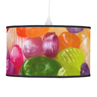 Funny Colorful Sweet Candies Food Lollipop Photo Hanging Lamp