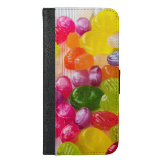 Funny Colorful Sweet Candies Food Lollipop Photo iPhone 6/6s Plus Wallet Case