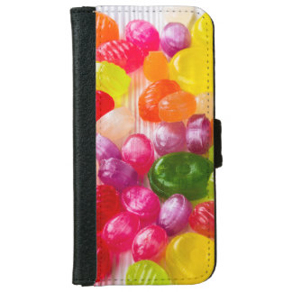 Funny Colorful Sweet Candies Food Lollipop Photo iPhone 6 Wallet Case