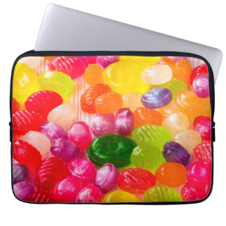 Funny Colorful Sweet Candies Food Lollipop Photo Laptop Sleeve