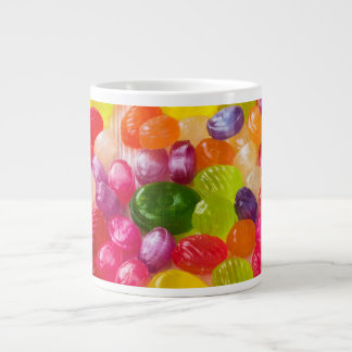 Funny Colorful Sweet Candies Food Lollipop Photo Large Coffee Mug