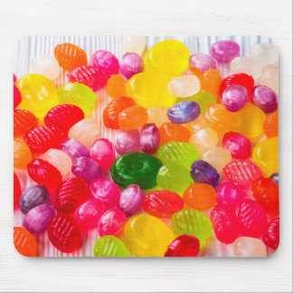 Funny Colorful Sweet Candies Food Lollipop Photo Mouse Pad