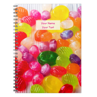 Funny Colorful Sweet Candies Food Lollipop Photo Notebooks