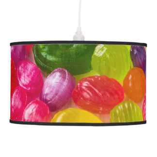 Funny Colorful Sweet Candies Food Lollipop Photo Pendant Lamp