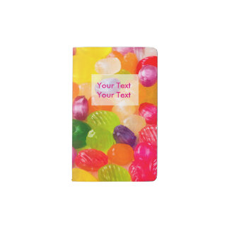 Funny Colorful Sweet Candies Food Lollipop Photo Pocket Moleskine Notebook
