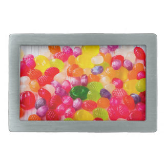 Funny Colorful Sweet Candies Food Lollipop Photo Rectangular Belt Buckle
