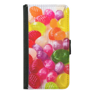 Funny Colorful Sweet Candies Food Lollipop Photo Samsung Galaxy S5 Wallet Case