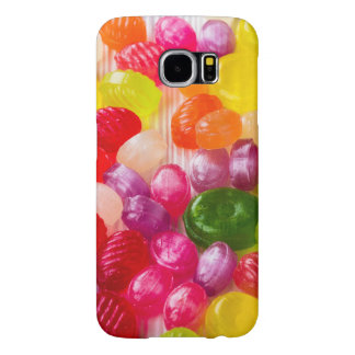 Funny Colorful Sweet Candies Food Lollipop Photo Samsung Galaxy S6 Cases
