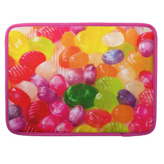 Funny Colorful Sweet Candies Food Lollipop Photo Sleeve For MacBooks