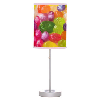 Funny Colorful Sweet Candies Food Lollipop Photo Table Lamps