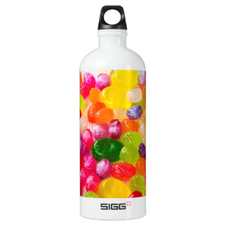 Funny Colorful Sweet Candies Food Lollipop Photo Water Bottle