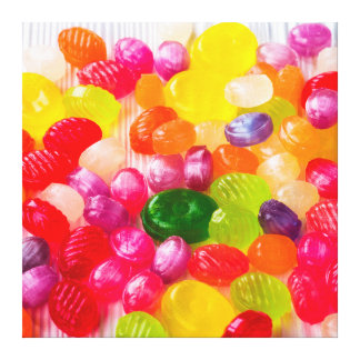 Funny Colorful Sweet Candies Food Lollipop Picture Canvas Print