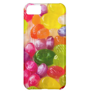 Funny Colorful Sweet Candies Food Lollipop Picture Cover For iPhone 5C
