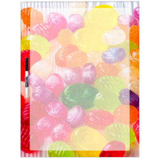 Funny Colorful Sweet Candies Food Lollipop Picture Dry Erase Board