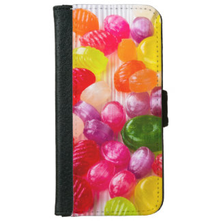Funny Colorful Sweet Candies Food Lollipop Picture iPhone 6 Wallet Case