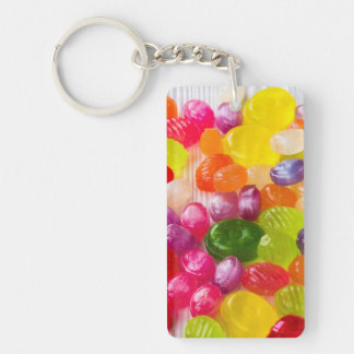 Funny Colorful Sweet Candies Food Lollipop Picture Keychain