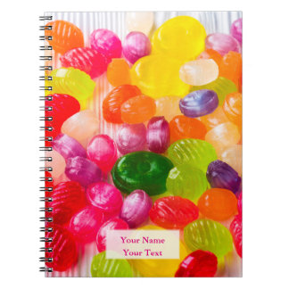 Funny Colorful Sweet Candies Food Lollipop Picture Notebooks